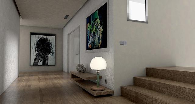 bílá lampa