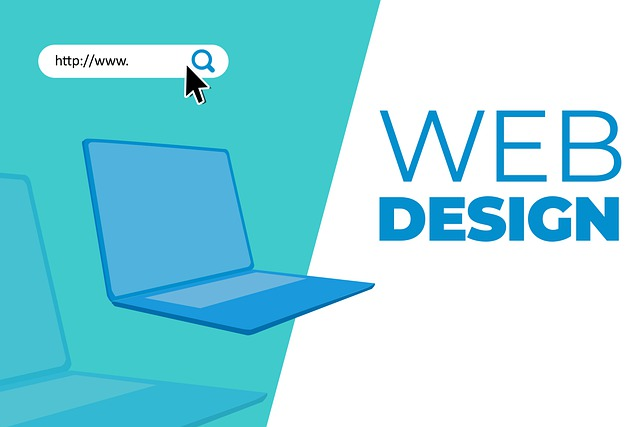 "laptop s nápisem ""web design"""